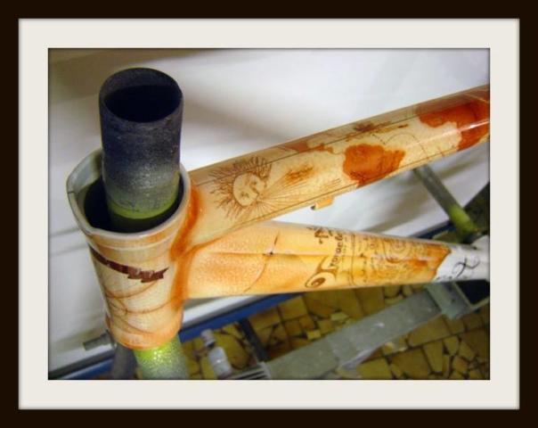 Malowanie ram lakierowanie customowe malowanie rowerów malowanie roweru Łask Kolumna