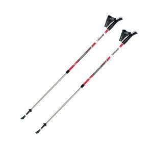 Kije Nordic Walking Gabel Nordic VARIO S-9.6 regulowane 77-130 cm czerwone