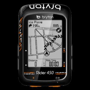 Licznik rowerowy bezprzewodowy Bryton Rider 450T SPD+CAD+HRM