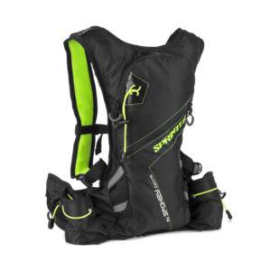 Plecak rowerowy sportowy Spokey Sprinter 5L wodoodporny czarno-zielony