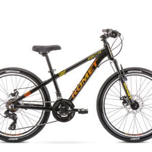 Rower górski junior Romet Rambler DIRT 24 czarno-pomarańczowy