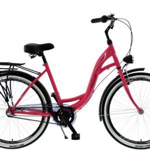 Rower miejski KANDS S-Comfort 3BN 26 3 biegi czerwono-czarny mat