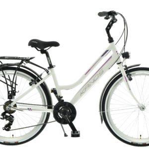 Rower miejski KANDS Venus 26 21 biegów biało-fioletowy