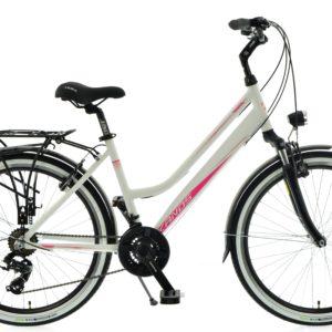 Rower miejski KANDS Venus Pro 26 21 biegów biało-różowy mat