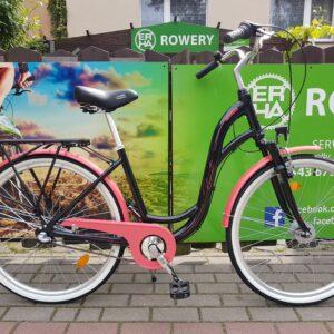 Rower miejski Romet Symfonia 2.0 26 czarno-różowy