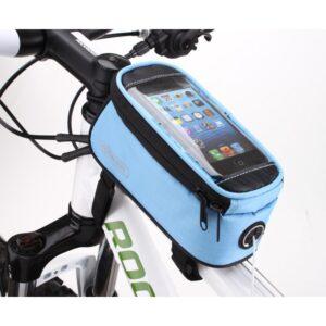 Sakwa rowerowa na ramę ROSWHEEL na telefon niebieska