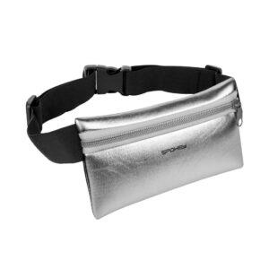 Saszetka na pas na telefon, klucze Spokey HIPS BAG srebrna