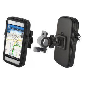 Uchwyt rowerowy na telefon smartfona na kierownicę wodoodporny 5,5 cala czarny 3