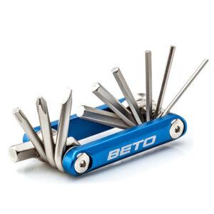 Zestaw kluczy rowerowych BETO 10 funkcji multitool
