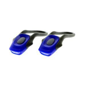 Zestaw lamp rowerowych KANDS 2 LED baterie niebieski
