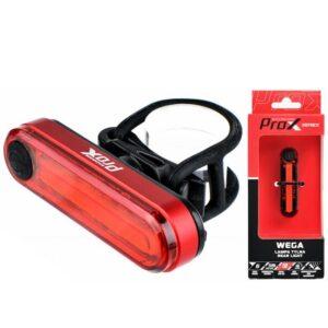 Lampka rowerowa tylna ProX WEGA COB LED 40Lm USB