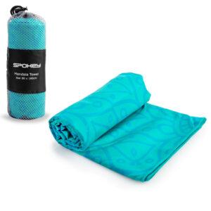 Ręcznik plażowy 80x160 szybkoschnący Spokey MANDALA turkusowy