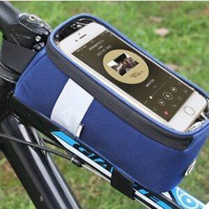 Sakwa rowerowa ROSWHEEL SAHOO na ramę na telefon 1L niebieska