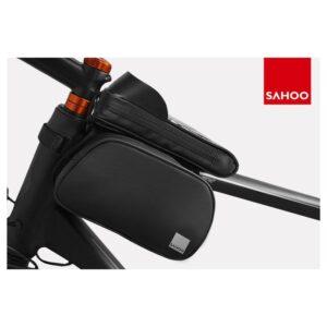 Sakwa rowerowa ROSWHEEL SAHOO na ramę na telefon wodoodporna czarna