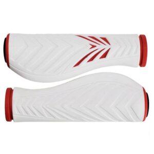 Chwyty rowerowe Velo ProX Comfort Gel czerwono-białe