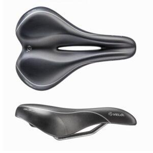 Siodełko rowerowe Velo Swan GEL komfortowe żelowe czarne