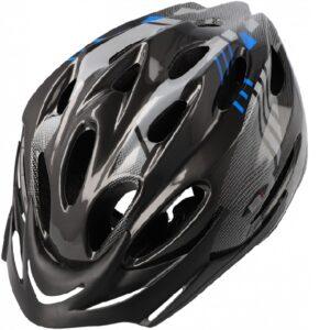 Kask rowerowy B-Skin Regular czarno-niebieski