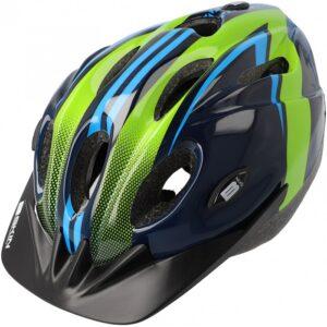 Kask rowerowy B-Skin Tomcat zielono-niebieski