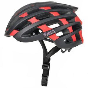 Kask rowerowy ProX No Limit czarno-czerwony