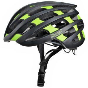Kask rowerowy ProX No Limit czarno-zielony