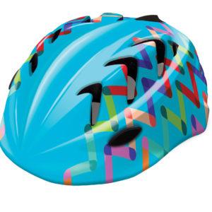 Kask rowerowy dziecięcy B-Skin Kidy Pro ZIGZAG niebieski