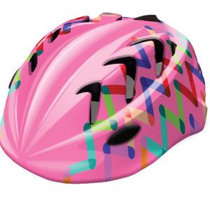 Kask rowerowy dziecięcy B-Skin Kidy Pro ZIGZAG różowy