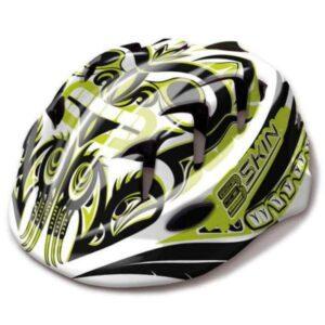 Kask rowerowy dziecięcy B-Skin Kidy Pro biało-zielony