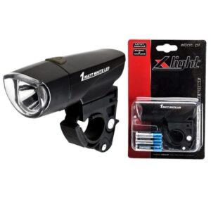 Lampka rowerowa przednia X-LIGHT 1W LED 80Lm baterie
