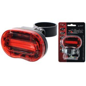 Lampka rowerowa tylna X-Light COB LED 15Lm baterie