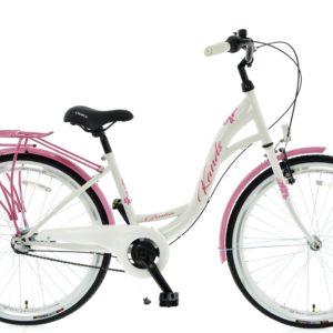 Rower miejski KANDS Giulia 26 3BN biało-różowy