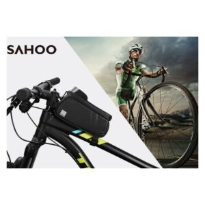 Sakwa rowerowa na ramę ROSWHEEL SAHOO na telefon 0,8L czarna